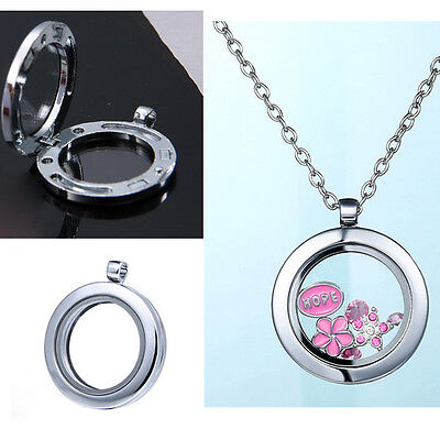 2018 Floate Living Memory Glass  Round Locket Pendant Necklace Without Charms