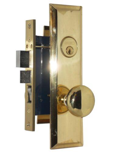 Em-D-Kay 5114AR Polished Brass Right Hand Lock Apartment Entry Mortise Lockset