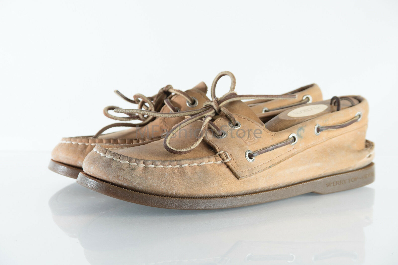 Sperry Brown Pelle Upper Lace Up CH08 Uomo Shoe Size US 8M Pre Owned