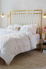 NWT ANTHROPOLOGIE WHITE BERTILIA QUEEN DUVET COVER *BRAND NEW*