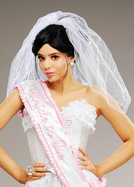 Veil Hen Do Party Accessory Diamante Comb Fastening Elegant