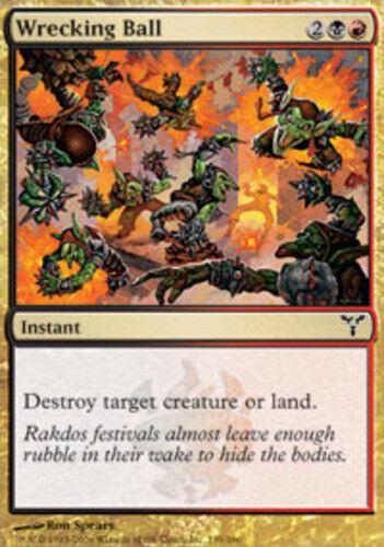 4 Wrecking Ball ~ Near Mint Dissension 4x x4 Playset MTG Magic Multi-Color Card