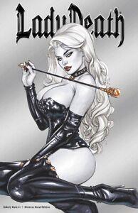 "Lady Death Unholy Ruin #1 ""Mistress METAL COVER"" Ltd. Ed. 95    Comic Book"