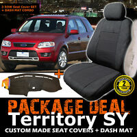 Ford Territory Sy 7 Seater 3row Seat Covers + Dash Mat 02/2004-04/2011 Dm947 Ts