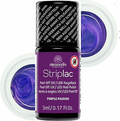 alessandro Striplac Glam Rock Purple Passion 5 ml Lila mit Goldschimmer