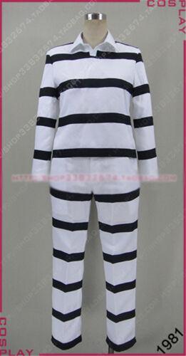 Prison School Kiyoshi Fujino Morokuzu Shingo Cosplay Costum Prison Uniform