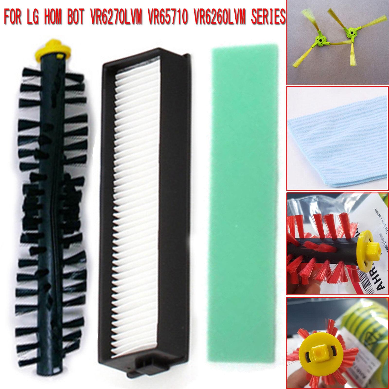 Main//Side Brush Mop Cloth Filters Set for LG Hom Bot VR6270LVM VR65710 VR6260LVM