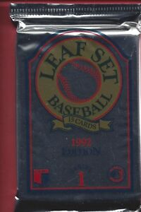 Details About 1992 Edition Leaf Set Baseball Series 1 2 Unopened Packs