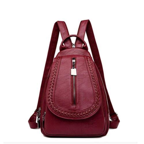 Vintage Female Handbags Women Backpack Leather Purse Elegant Ladies Zipper Bags