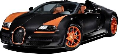 PACK 2 BUGATTI SPORTS CAR EMBELLISHMENT TOPPERS FOR CARDS AND CRAFTS
