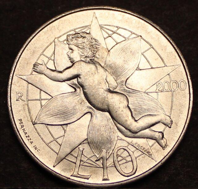 Europe San Marino 10 Lire km399 UNC. Love coins 2000