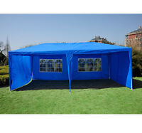 Outsunny 10'x20' Outdoor Wedding Party Tent Patio Gazebo Canopy W/side Walls Blu on sale