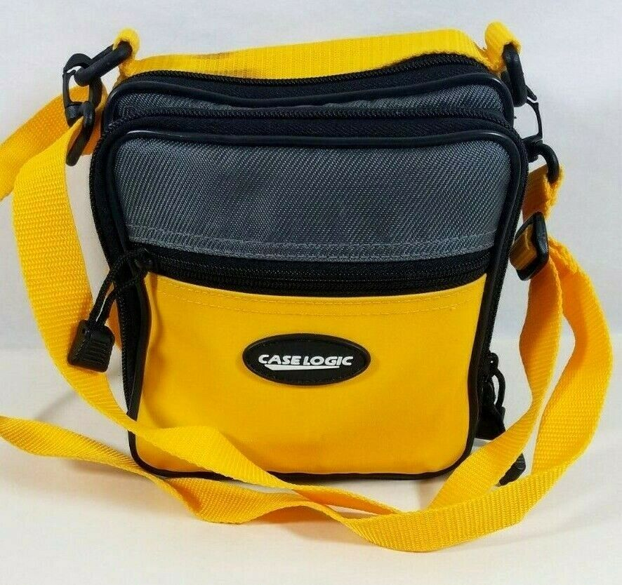 CASE LOGIC Bright Yellow and Gray Camera Case CD Player Case Clean!