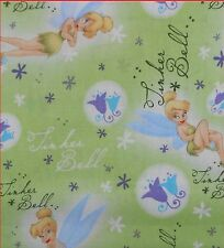 Tinker Bell Disney Fabric Cotton By The Yard....the Full Yard! Cartoon Character