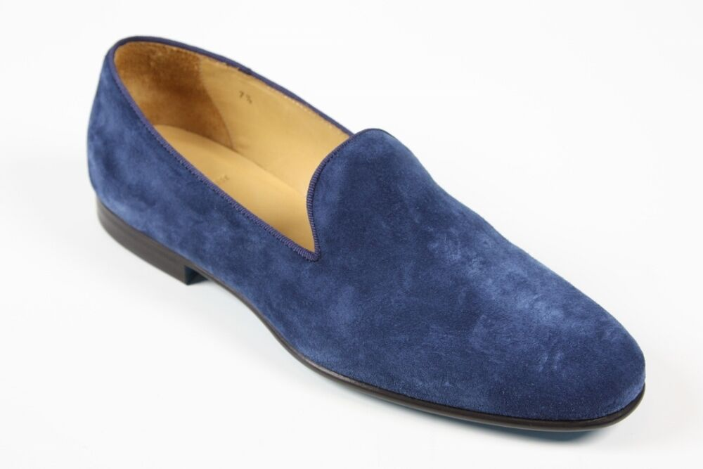 Sutor Mantellassi Shoes: 10 UK / 11 US Blue suede slip-on loafers