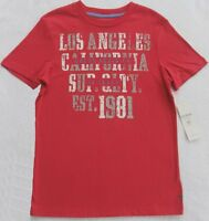 Guess Boys Red T-shirt With Gray/white/blue(size Medium 12/14)