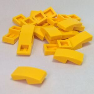 Lego 11477 x4 Slope Curved 2 x 1 No Studs Yellow