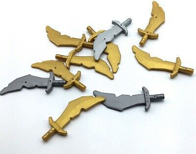10 LEGO Pirate Sword Cutlas Weapon Minifigure Accessories Lot