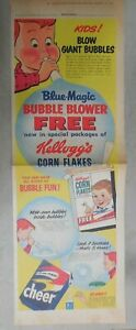 Kellogg-039-s-Cereal-Ad-Corn-Flakes-Giant-Bubble-Blower-1955-Size-10-x-22-inches