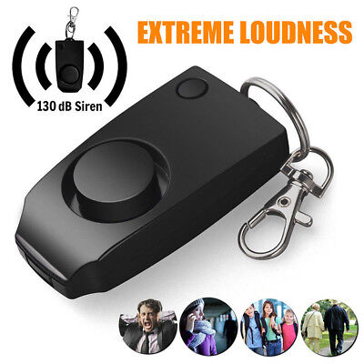 Personal Alarm Attack Alarm 130DB Seguridad Personal Key Alarm Keychain Personal Defense Protection Beetle Alarm Keychain 130db Mujer Alarma de Emergencia con LED