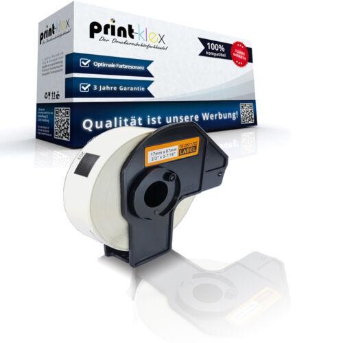 Endlos kompatible Etiketten Rolle für Brother PTouch-QL-500-BS 17x Solutions Off