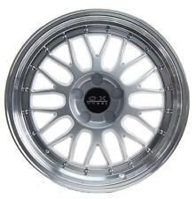 Hyper Silver 8x18 ET42 5x112 Hub Bore 76 Alloy Rims MAK ZENITH