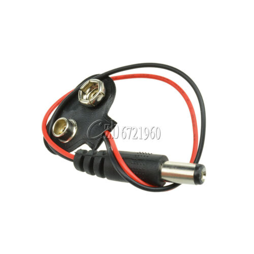 2PCS 9V DC T type Battery Power Cable Barrel Jack Connector Arduino DIY