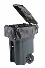 PlasticMill 64 Gallon Heavy Duty 1.5 Mil Trash Can Liners for Outdoor Garbage