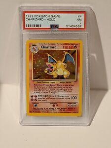 Charizard 4/102 Pokemon Base Set Holo Foil  Card PSA 7 WOTC Original Near NM WOW