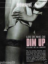 Coupure de Presse Clipping 2006 (4 pages) Les 20 ans des collants DIM Up