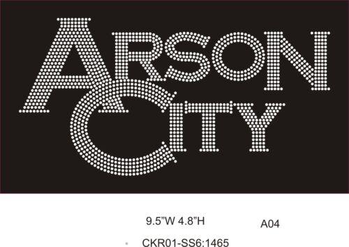 Arson City  Rhinestone Bling Shirt XS S M L XL XXL 1X  2X 3X 4X 5X