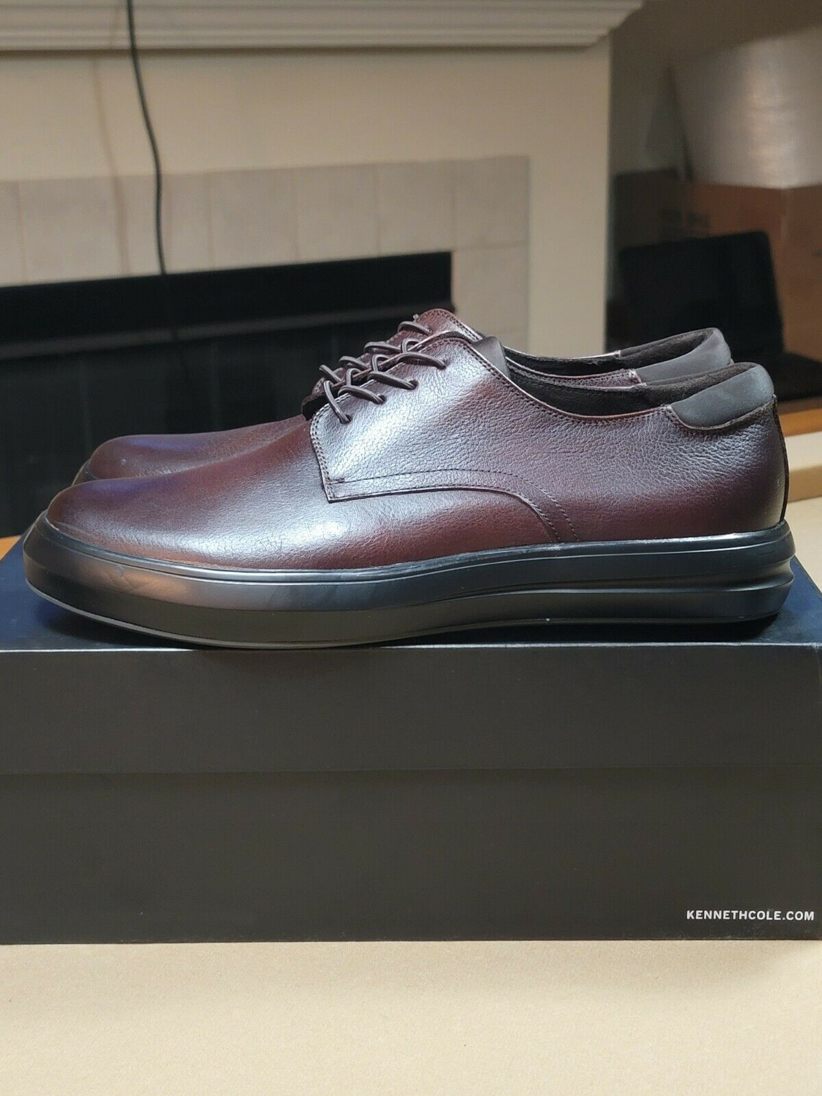Kenneth Cole Men's The Mover Hybrid Lace Up Oxford Brown Leather - Sz 12M - NEW