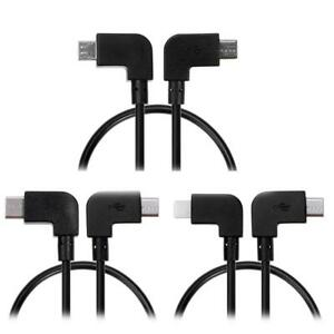 IOS-Micro-Typ-C-USB-Kabel-OTG-fuer-DJI-Spark-Mavic-Pro-iPhone-Tablet-Android-NUE