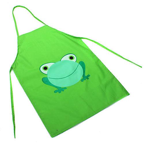 Eg /_ Kind Kinder Schön Wasserfest Schürze Cartoon Frosch für Junge Mädchen