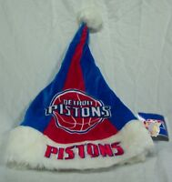 Detroit Pistons Nba Basketball Soft Christmas Santa Hat