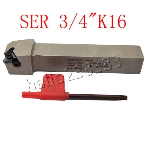 """SER 3//4/"""" Threading Turning CNC Tool Holder 3//4 Inch SER2020K16 For 16ER INSERT"""