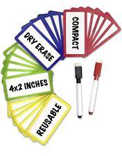 24 Pc Magnetic Dry Erase Label Set With 2 Magnetic Pens Built In Eraser