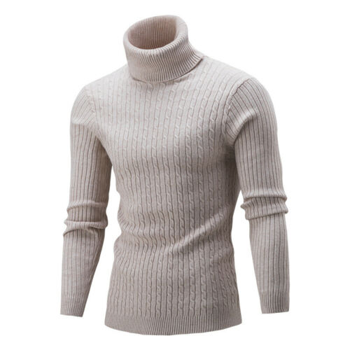 Men/'s Casual Pullover Sweaters Long Sleeve Turtleneck Slim Fit Plus Size Shirts