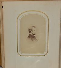 FINE COLLECTION OF 30 CARTE-DE-VISITE PORTRAITS INCLUDING ONE OF ABRAHAM LINCOLN
