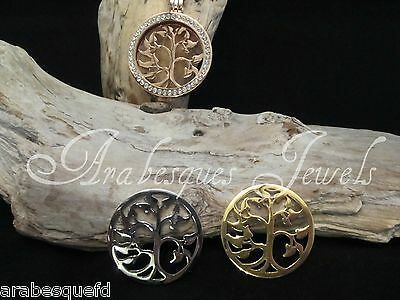 Med. 24mm GENUINE STERLINA MI MILANO TREE COIN/MONEDA FOR NECKLACE/PENDANT AJMM