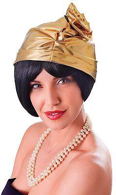 Modesto Cappello Cloche Anni 1920. Oro, Costume Cappello-mostra Il Titolo Originale Rinvigorire Efficacemente La Salute