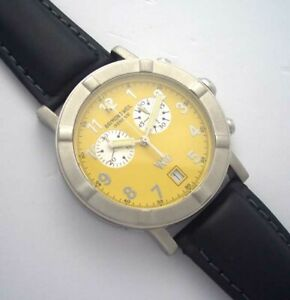 RAYMOND-WEIL-W1-Chronograph-Steel-Yellow-Watch-8000-Without-Band