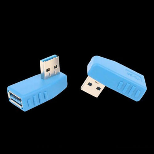 90 Degree USB 3.0 A male to female Adapter Connector Angle Extension Extender  P