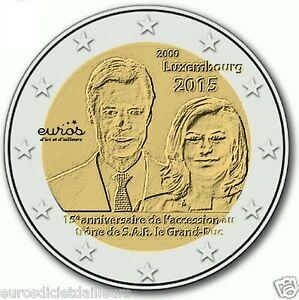 Piece-commemorative-2-euros-LUXEMBOURG-2015-Accession-trone-du-Duc-Henri-UNC