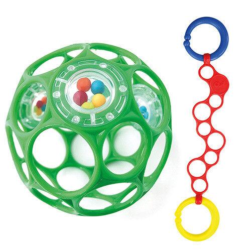 für Buben Oball Rattle Grün mit O-Link rot Oball Set