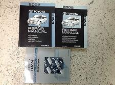 2002 Toyota Rav4 RAV 4 Service Shop Repair Manual Set OEM 02 W ELECTRICAL BOOK
