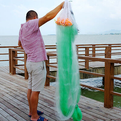 90Mx2M  4x4cmMonofilament Fishing Net Fish Gill Net with Float Fish Trap