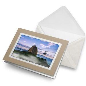 Greetings-Card-Biege-Sugarloaf-Mountain-Rio-Brazil-2187