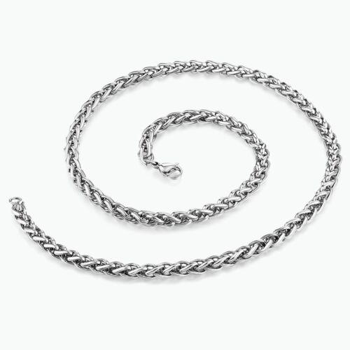 argent blé Chaîne Collier 20pcs vente en gros bijoux hommes femmes en acier inoxydable