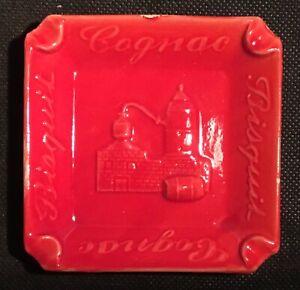 Bisquit-COGNAC-Antique-Vintage-ceramic-keramik-ashtray-cendrier-ETS-COUMANS